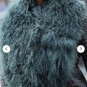 Mongolian sheep fur collar